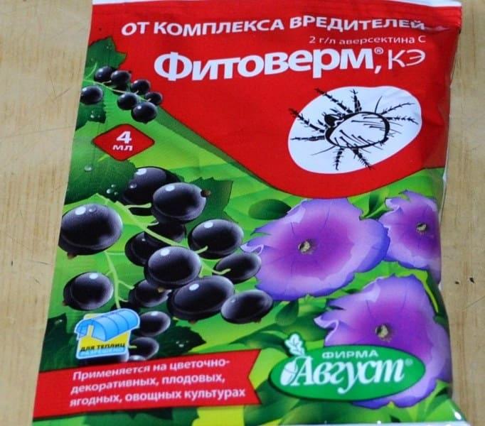 Для обработки малины используют препарат Фитоверм