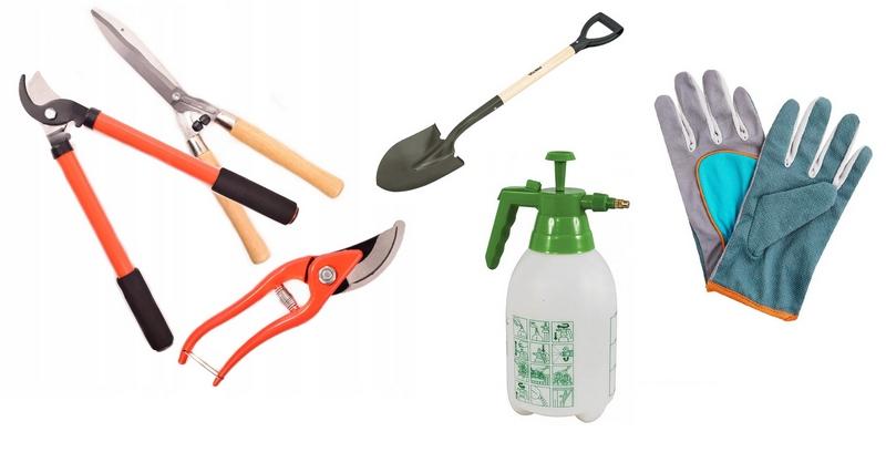 Инструменты для работы в малиннике