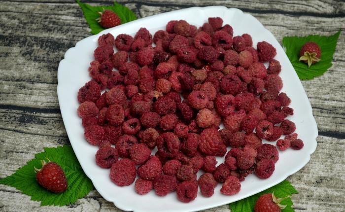 Сушка малины на зиму – один из наиболее полезных и правильных методов заготовки целебных ягод