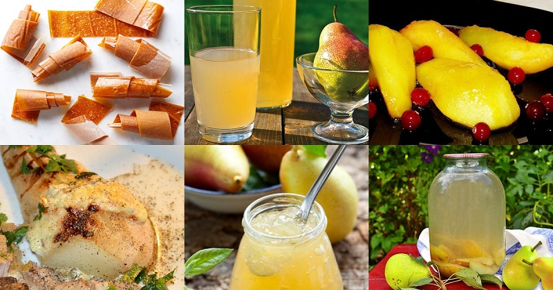 Из груш можно приготовить много вкусных и полезных блюд