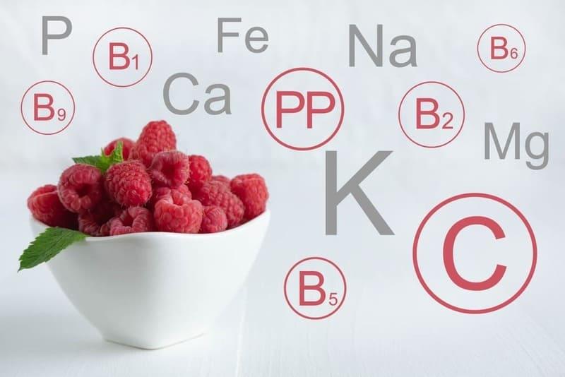 В малине сконцентрировано большинство витамин, необходимых человеку